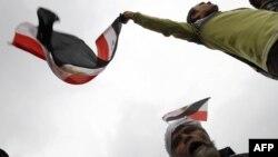 Եգիպտոսի ընդդիմադիրները շարունակում են բողոքի ակցիաները Կահիրեի Թահրիր հրապարակում, կիրակի, 6-ը փետրվարի, 2011թ.