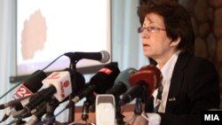 Прес-конференција на Државната изборна комисија. Билјана Јовановска, портпарол на ДИК.