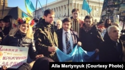 Алла Мартинюк на Майдані, 2014 рік