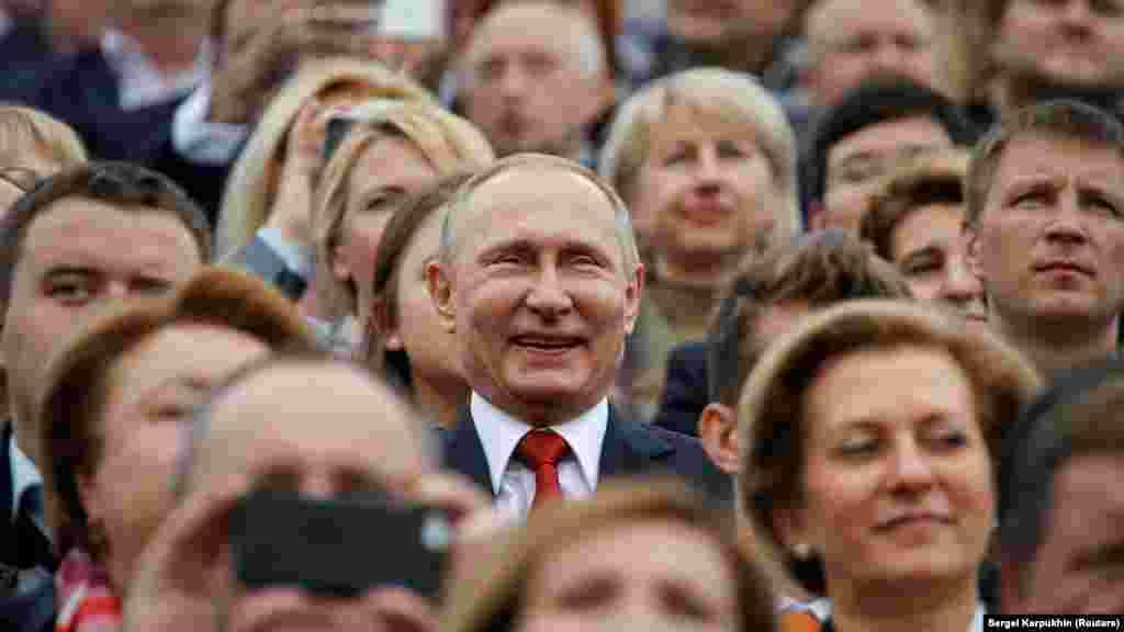 Президент России Владимир Путин на праздновании Дня Москвы. Сентябрь 2016 года.
