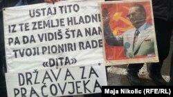 Sa protesta radnika u Tuzli