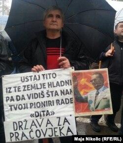 Sa jednog od radničkih prosvjeda u Tuzli