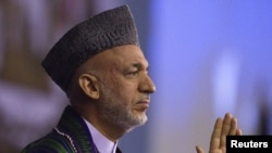 AAfghan President Hamid Karzai