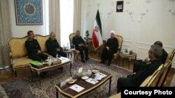 Iran President Hassan Rouhani Meets IRGC Commanders in Tehran, July 24, 2017