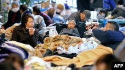 од еден од центрите за евакуација во Јапонија