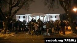 Паседжаньне трохбаковай кантактнай групы па Ўкраіне 10 лютага ў Менску.