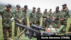 FILE Pakistani soldiers take part in a joint training exercise with Russian forces in the North Caucasus republic of Karachayevo-Cherkessia in October 2017,