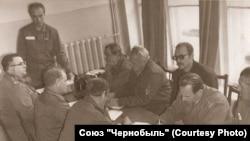 Ученые института имени Курчатова на совещании по ликвидации последствий аварии