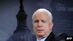U.S. - Senator John McCain at a news conference on the situation in Iran, Washington, DC, 25Jun2009