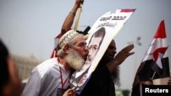 Сторонники Мурси на площади Тахрир, Каир, 18 июня 2012