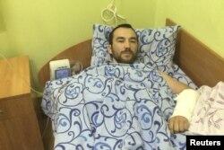 Затриманий в Україні російський спецназівець Євген Єрофеєв у лікарні. Київ, 18 травня 2015 року