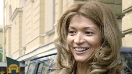 "Russia -- Gulnara Karimova, the daughter of Uzbek President, and Chairwoman of the Foundation ""Forum of Culture and Art of Uzbekistan"", at the opening of the exhibition ""Dreams of the Orient"