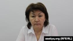 Гульдана Нуржанова, заведующая секторам отдела занятости и социальных программ города Шымкента. 3 апреля 2017 года.