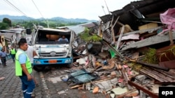 Руйнування після землетрусу, місто Педерналес, Еквадор, 17 квітня 2016 року