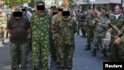 «Парад пленных» в Донецке. 24 августа 2014 года