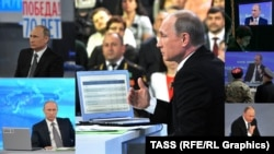 Putin talks dogs, clones, pensions, and Ukraine -- for four hours.