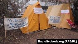 Хаймаҳои ширкаткунандагони ҳодисаи Чернобил
