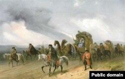 «Татари, які мандрують степом», Боссолі