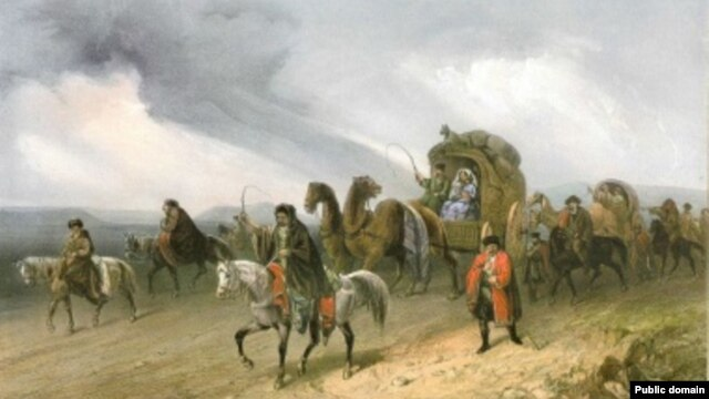 Боссоли. Татары путешествующие по степи.