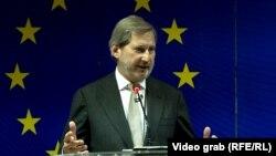 Еврокомиссар по вопросам расширения и европейской политики соседства Йоханнес Хан (архив)