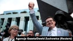 Predsjednica Vrhovnog suda Poljske Malgoržata Gersdorf na protestu u Varšavi