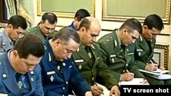 Представители правоохранительных и военных ведомств Туркменистана, 2010 г. (архивное фото)