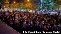 Митинг в Цхинвали 29 августа