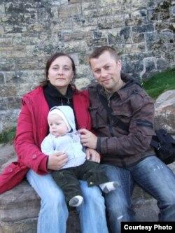 З жонкай і сынам Барнімам