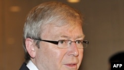 کوین راد، نخست وزیر استرالیا، برنامه هسته ای ایران را تهدیدی برای صلح جهانی می داند.