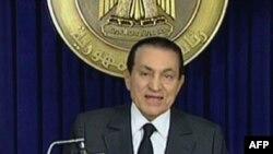Последнее телеобращение Хосни Мубарака к нации