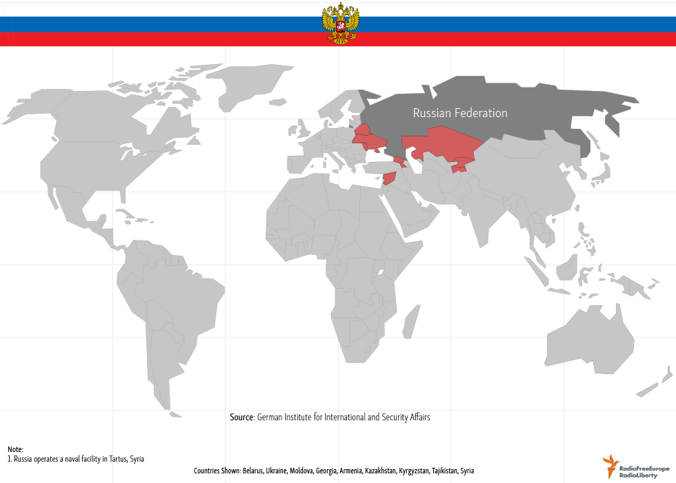 US Russian Military Bases Abroad - Map Of All Us Military Bases In The World