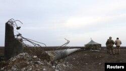 Зруйновані ЛЕП на Херсонщині
