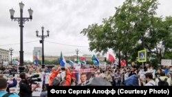 Протести в Хабаровську почалися після арешту губернатора краю Сергія Фургала 9 липня за звинуваченням в організації вбивств 15 років тому