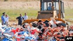 В России уничтожаются «санкционные» продукты, август 2015 г․