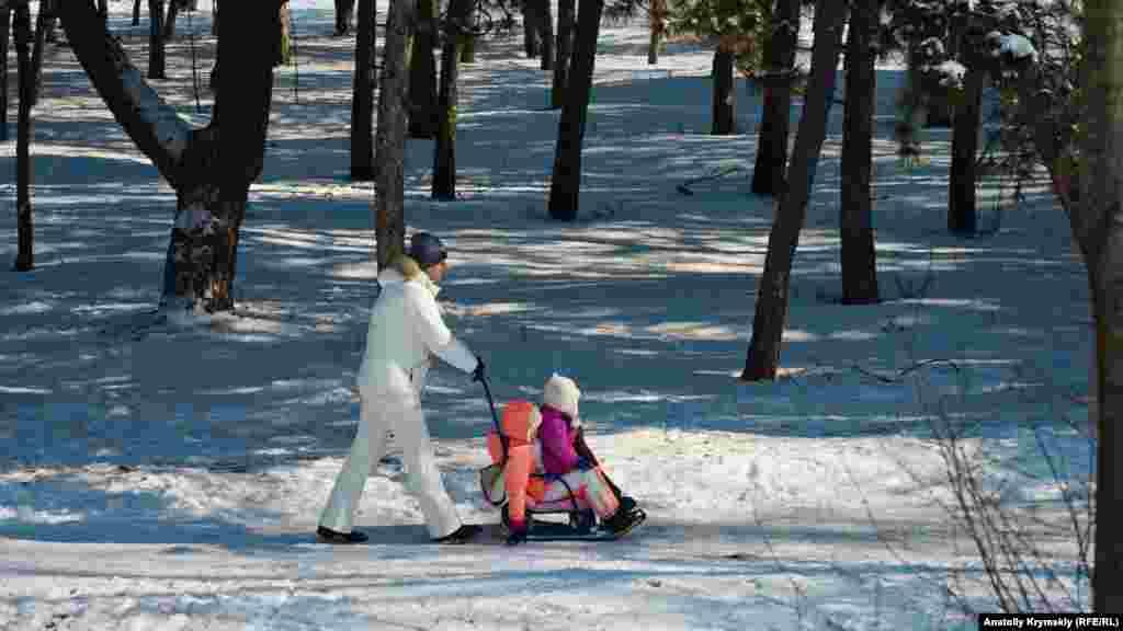 У Сімферополі також в останні дні лютого випав сніг