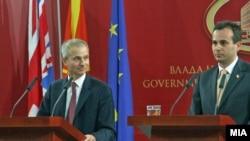 Од прес конференцијата на британскиот министер за Европа Давид Линдингтон и вицепремиерот Васко Наумовски