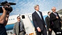 Джон Керрі в аеропорту Тель-Авіва