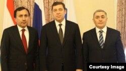 Аз чап ба рост: И.Сатторов, Е.Куйвашев ва С.Сафаров