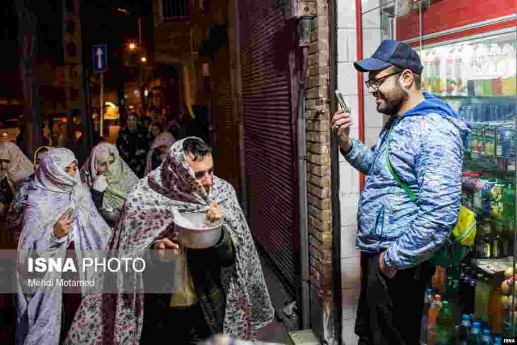 مراسم قاشقزنی در قزوین.