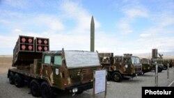 Armenia - Missile systems put on display at an Armenian military facility near Yerevan, 8Oct2013.