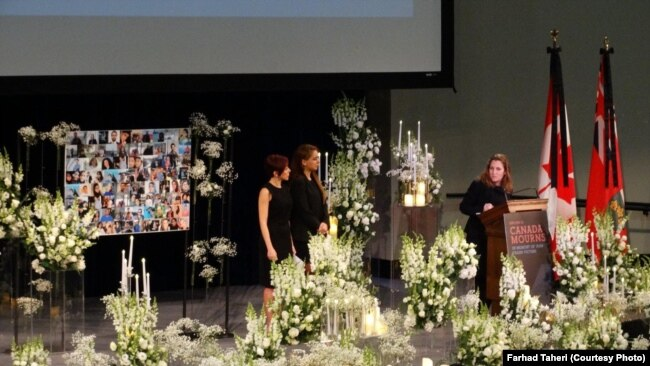 A gathering in Toronto university, in solidarity with the victims of Plane Crash in Iran, on January 13, 2020.
