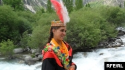 A Kalash girl in traditional dress.