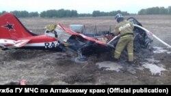 Тушение упавшего на Алтае Як-52