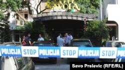Crnogorska policija na mjestu ubistva vođe klana, Bar, fotoarhiv