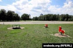 Одне з місць, дозволених для агітації – майданчик у Парку дружби народів у Мінську