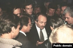 В'ячеслав Чорновіл на шахті ім. Поченкова. Макіївка 1990-і роки