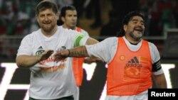 Ramzan Kadyrov və Maradona. 11 May 2011. Çeçenistan