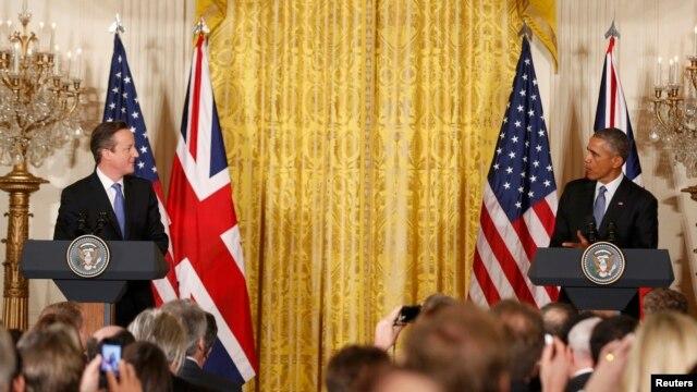کاخ سفید - کنفرانس خبری مشترک باراک اوباما، رئیس جمهور آمریکا و دیوید کامرون، نخست وزیر بریتانیا