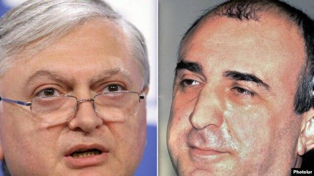 Armenian Foreign Minister Eduard Nalbandian (left) and his Azerbaijani counterpart, Elmar Mammadyarov (file photos)