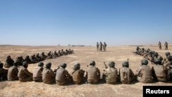 Turkish troops are training Kurdish and Sunni Arab forces at a camp in Bashiqa for the upcoming battle to retake Mosul.